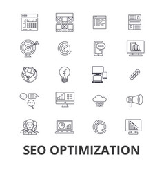 seo optimization marketing social media website vector image