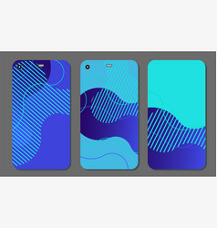 set fashionable abstract ornaments for mobile vector image