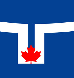 simple flag of city of canada vector image