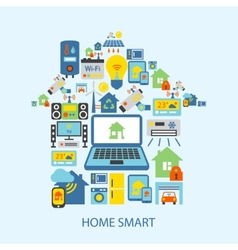 Smart home icons set vector image