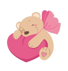 Sweet Teddy bear with heart vector image