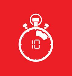 ten minute stop watch countdown vector image