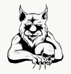 Tiger anger of a head vector