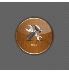 Tools wood application icons vector image vector image