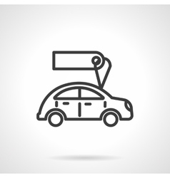 Used car sales black line design icon vector