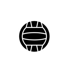 web icon water polo black on white background vector image