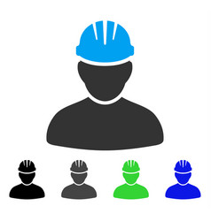 Worker person flat icon vector