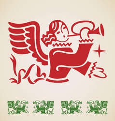 Christmas Angel vintage design element vector image vector image
