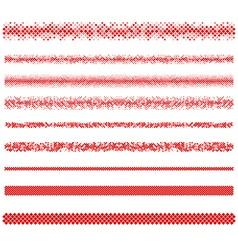Design elements - pixel text divider line set vector image vector image