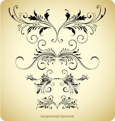 floral borders vintage design vector image vector image