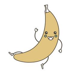 fresh banana kawaii character vector image vector image