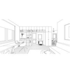 interior drawing vector image vector image