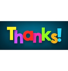Paper thanks sign vector image