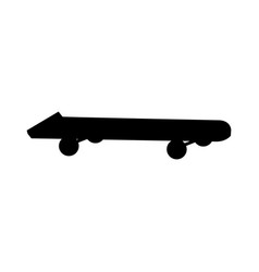 silhouette skateboard extreme sport object vector image
