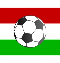 flag of Hungary and soccer ball vector image vector image