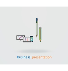 flat design of the user interface on the PC and vector image vector image