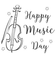 Hand draw music day doodles vector