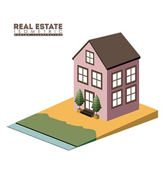 Isometric Real Estate design vector image