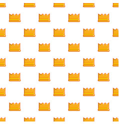 knight crown pattern seamless vector image vector image