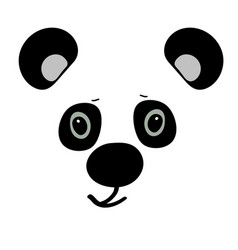 panda cute funny cartoon head vector image vector image
