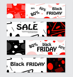 set of black friday banners design for web vector image vector image