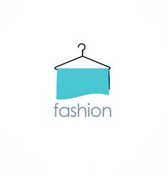fashion hanger logo vector image