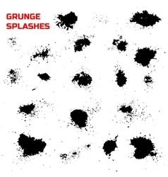 Grunge splashes set vector image vector image