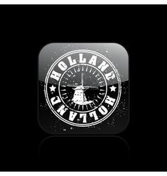 holland icon vector image