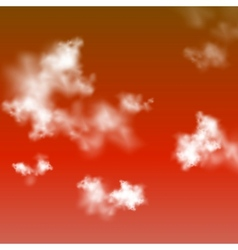Red sky background vector image