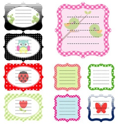 Set of vintage cute frame vector image vector image