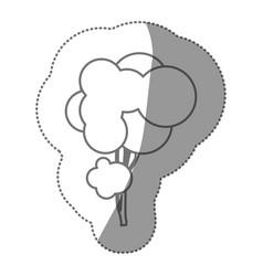 silhouette creative tree icon vector image vector image