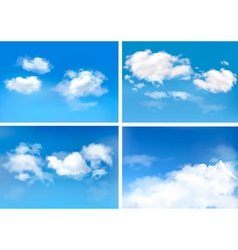Blue sky with clouds backgrounds vector image vector image