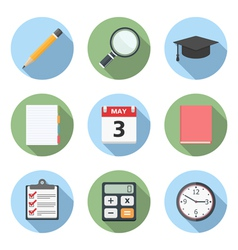 Flat Education Icons vector image vector image