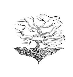 tattoo tree vector image vector image