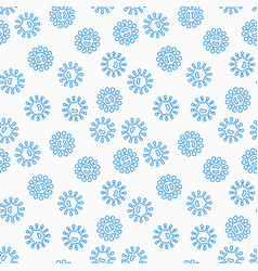 virus or bacteria seamless pattern vector image