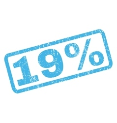 19 Percent Rubber Stamp vector image