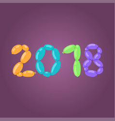 2018 happy new year text design for christmass vector image