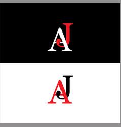 A j joint letter logo monogram design vector