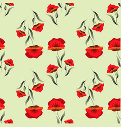 abstract floral background seamless pattern with vector image