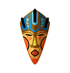 African facial ritual mask isolated on white vector