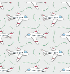 Aircraft seamless pattern for design vector