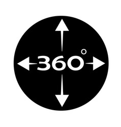 Angle 360 degree icon on white background 360 vector