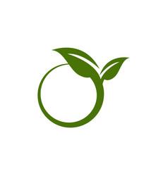 ariculture leaf graphic design template vector image