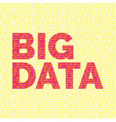 Backdrop and binary code and words big data vector