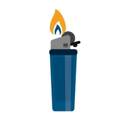 blue gas lighter flame icon vector image