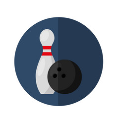 Bowling sport isolated icon vector