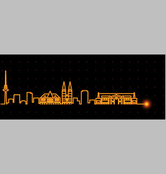 bremen light streak skyline profile vector image