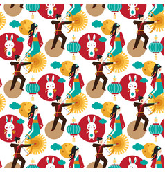 bright pattern dedicated to chinese festival vector image