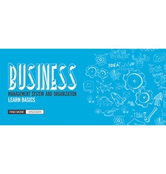 Business Management Concept with Doodle design vector