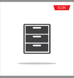 cabinet icon isolated on white background vector image